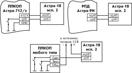 астра-10 исп м2 схема подключения