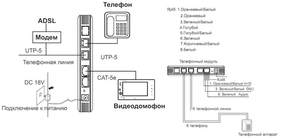 Схема подключения модуля XR-27